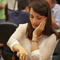 The International Grandmaster, the leader of the Women's Ukrainian team Ekaterina Lagno visited the press centre and answered the questions of Anastasiya Karlovich