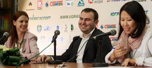 Press-conference with  Shakhriyar Mamedyarov
