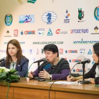 Press-conference with Nona Gaprindashvili